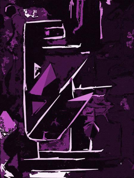Digital Art - It Cuts Violet by Luke Mitchell