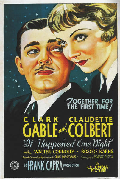 Wall Art - Photograph - It Happened One Night Vintage Movie Poster 1934 by Columbia Pictures