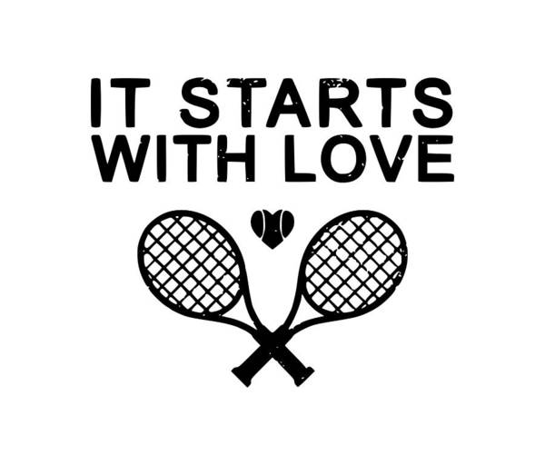 Backhand Digital Art - It Starts With Love by Tee Titan