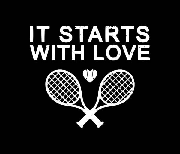 Backhand Digital Art - It Starts With Love1 by Tee Titan