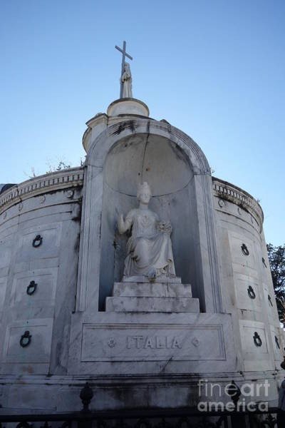 Photograph - Italia - St. Louis Cemetery No. 1  -  New Orleans by Susan Carella