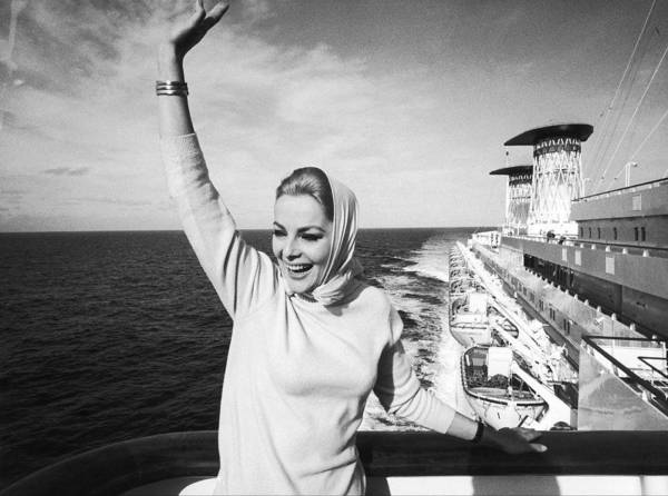Arrival Photograph - Italian Actress Virna Lisi Abord Of by Keystone-france