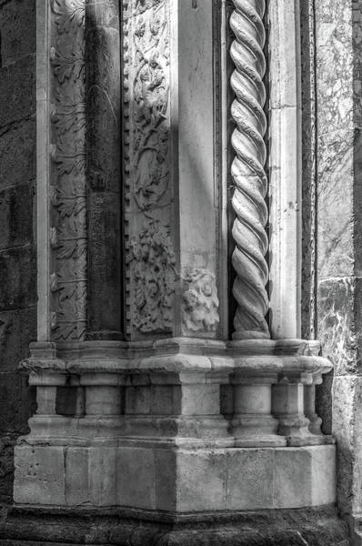 Wall Art - Photograph - Italian Architecture Details In Viterbo Black And White #01 by Dimitris Sivyllis