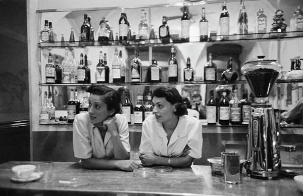 Bar Counter Photograph - Italian Bar by Thurston Hopkins