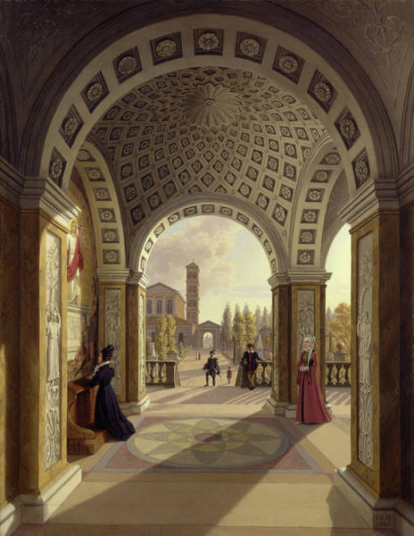 Wall Art - Painting - Italian Cemetery by Johann Erdmann Hummel