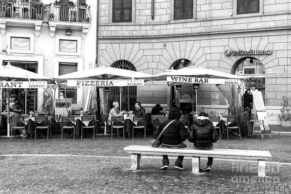 Photograph - Italian Dining At Piazza Navona In Rome by John Rizzuto