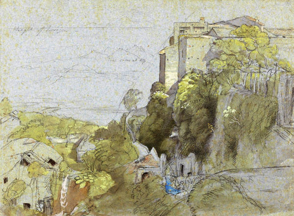Wall Art - Painting - Italian Hill Town - Digital Remastered Edition by Samuel Palmer