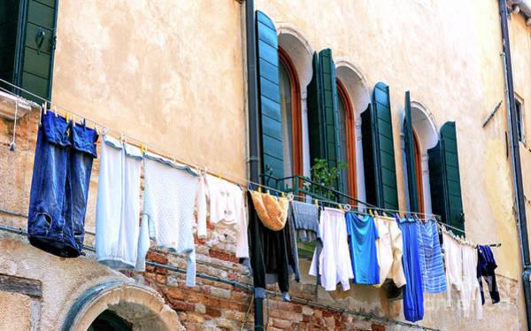 Photograph - Italian Laundry In Venezia by John Rizzuto