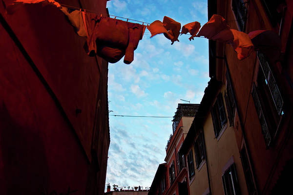 Garment Photograph - Italian Old Town Trastevere In Rome by Paolofur