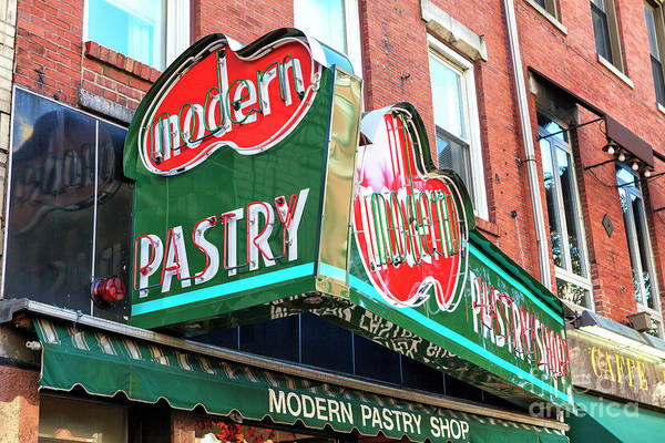 Photograph - Italian Pastry Shop In Boston by John Rizzuto