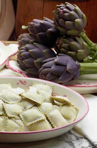 Respect Photograph - Italian Ravioli Pasta With Artichoke by Buena Vista Images