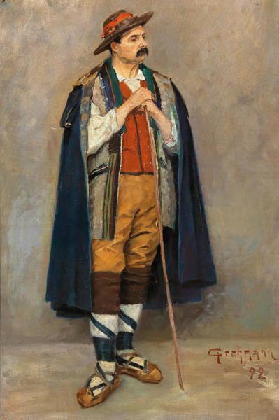 Painting - Italian Shepherd by Reinhold Grohmann
