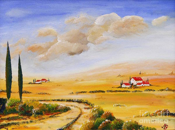 Feld Wall Art - Painting - Italian Summer by Birgit Moldenhauer