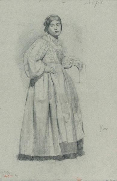 Drawing - Italienne by Edgar Degas