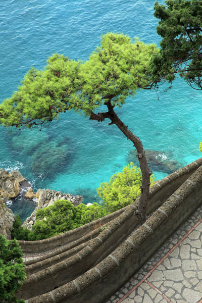 Capri Photograph - Italy, Capri, Via Krupp, Scenery by Tibor Bognar