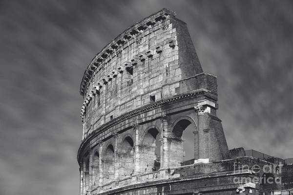 Wall Art - Photograph - Italy - Colosseum Black And White by Stefano Senise