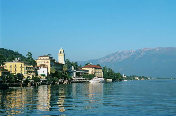 Lakeshore Photograph - Italy, Gardone City, Lake Garda, Grand by Paolo Negri