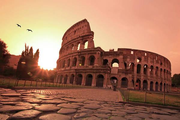 Dawn Photograph - Italy, Lazio, Rome, Colosseum At Dawn by Michele Falzone