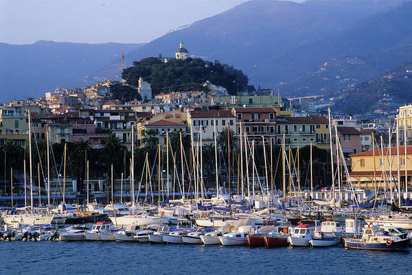 Luxury Yacht Photograph - Italy, Liguria, Sanremo, Yachts In by Vincenzo Lombardo