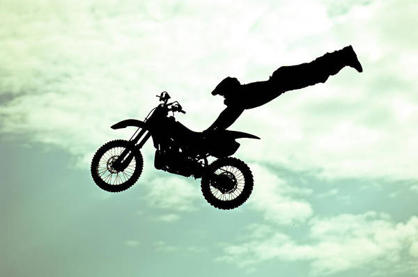 Motocross Photograph - Italy, Rome, Freestyle Motocross by Win-initiative