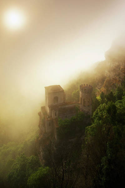 Sicily Photograph - Italy, Sicily, Erice, Balio Towers by Slow Images