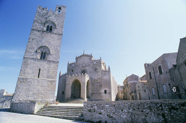 Sicily Photograph - Italy, Sicily,trapani, Erice, Campanile by Livio Sinibaldi