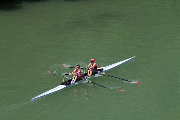 Sport Photograph - Italy, Turin, Rowing On The River Po by Aldo Pavan