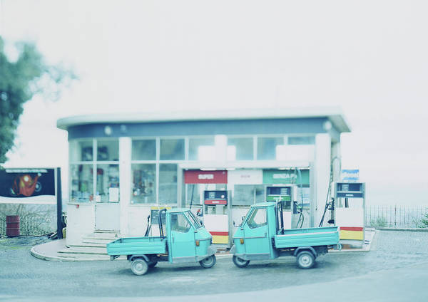 Station To Station Photograph - Italy, Tuscany, Chianti, Two Pick-up by Johannes Mann