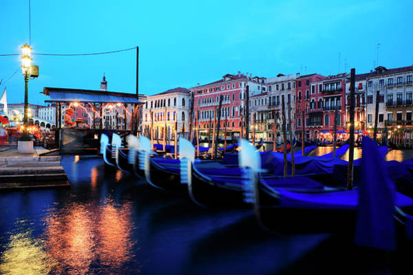 Quayside Photograph - Italy, Veneto, Venice, Grand Canal In by Gardel Bertrand / Hemis.fr