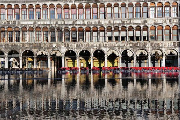 High Tide Photograph - Italy, Veneto, Venice, Listed As World by Cintract Romain / Hemis.fr