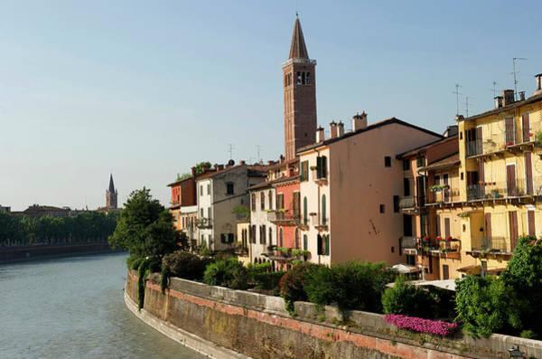 Jetty Photograph - Italy, Veneto, Verona, Listed As World by Mattes René / Hemis.fr