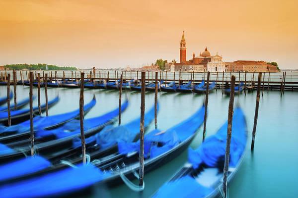 Wall Art - Photograph - Italy, Venice Moored Gondolas by Jaynes Gallery