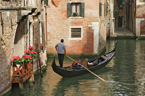 Wall Art - Photograph - Italy, Venice Tourists On Gondola Ride by Jaynes Gallery