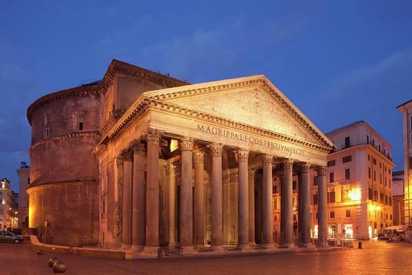 Pantheon Wall Art - Photograph - Italy,rome,the Pantheon by Eurasia Press