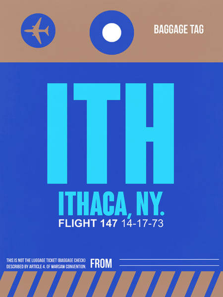 Wall Art - Digital Art - Ith Ithaca Luggage Tag II by Naxart Studio