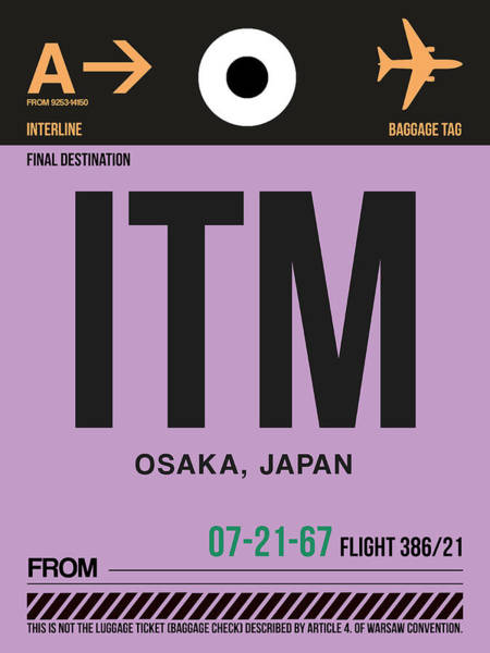 Wall Art - Digital Art - Itm Osaka Luggage Tag I by Naxart Studio