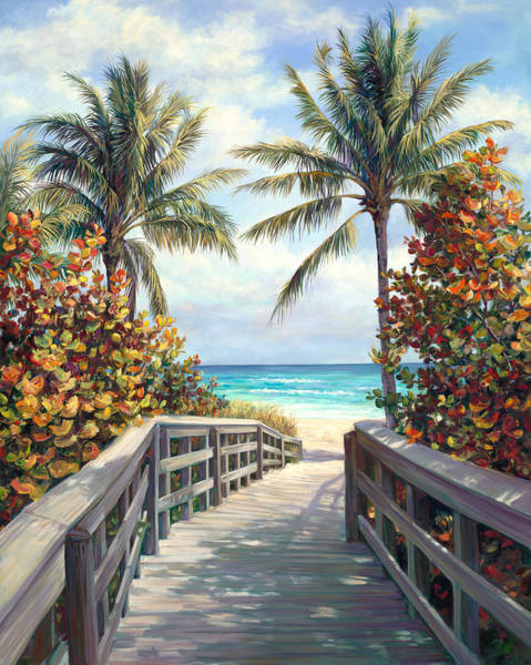 Sea Oats Painting - Its A Beach Day by Laurie Snow Hein