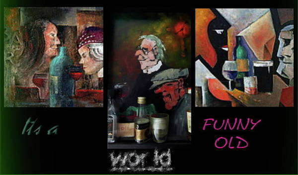 Painting - Its A Funny Old World ? by Val Byrne