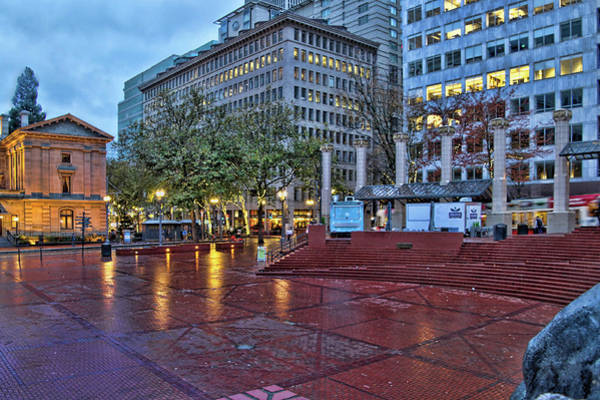 Camera Raw Photograph - It's A Raining Evening In Portland by Brenton Cooper