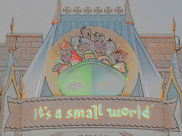 Wall Art - Photograph - It's A Small World Entrance  by David Lee Thompson