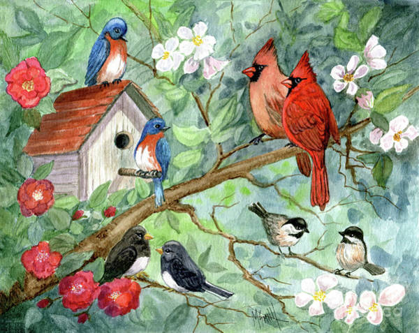 Slate Painting - It's A Spring Thing by Marilyn Smith