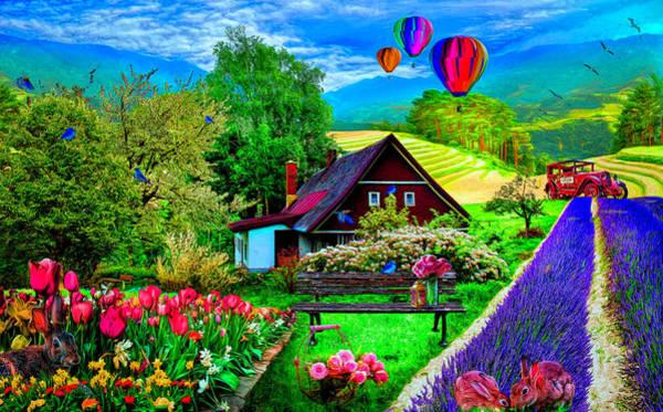 Digital Art - It's Springtime by Debra and Dave Vanderlaan