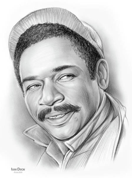Television Drawing - Ivan Dixon by Greg Joens