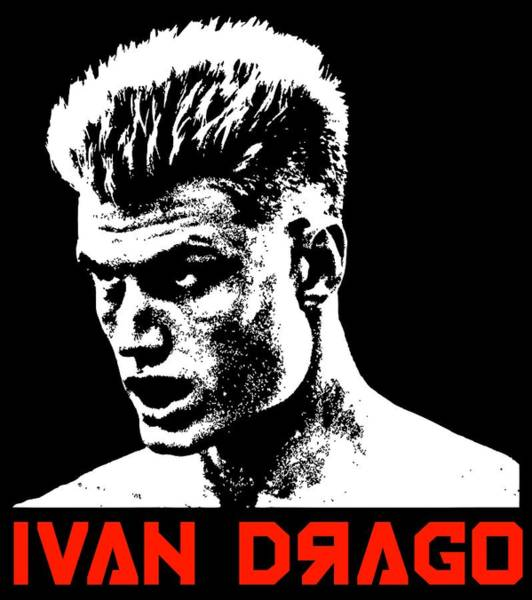 Wall Art - Digital Art - Ivan Drago Pop Art by Filip Hellman