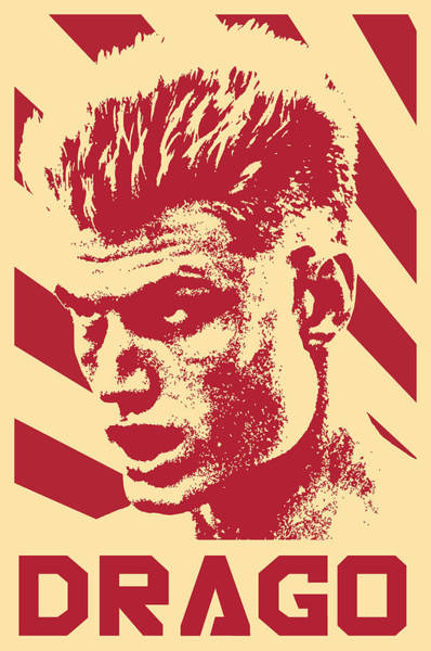 Wall Art - Digital Art - Ivan Drago Retro Propaganda by Filip Hellman