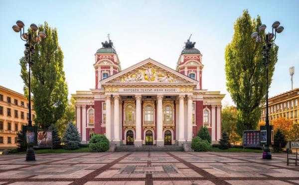 Photograph - Ivan Vazov National Theatre - Sofia, Bulgaria by Nico Trinkhaus