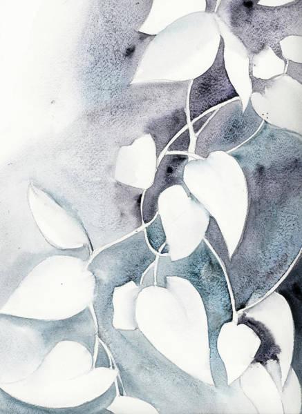 Wall Art - Painting - Ivory Ivy I by Sophia Rodionov