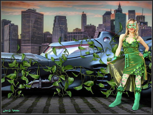Photograph - Ivy Held Batmobile by Jon Volden