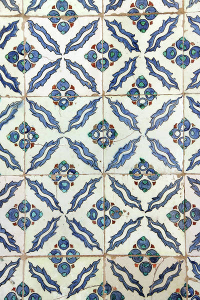 Photograph -  Iznik Mosaic Tiles Of  Harem  by Steve Estvanik