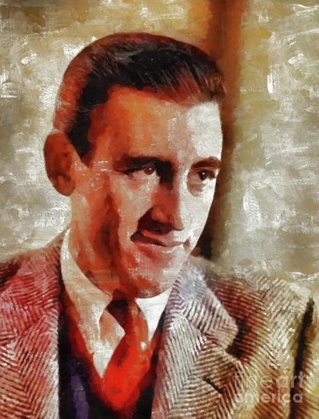 Poetry Painting - J. D. Salinger, Literary Legend by Mary Bassett